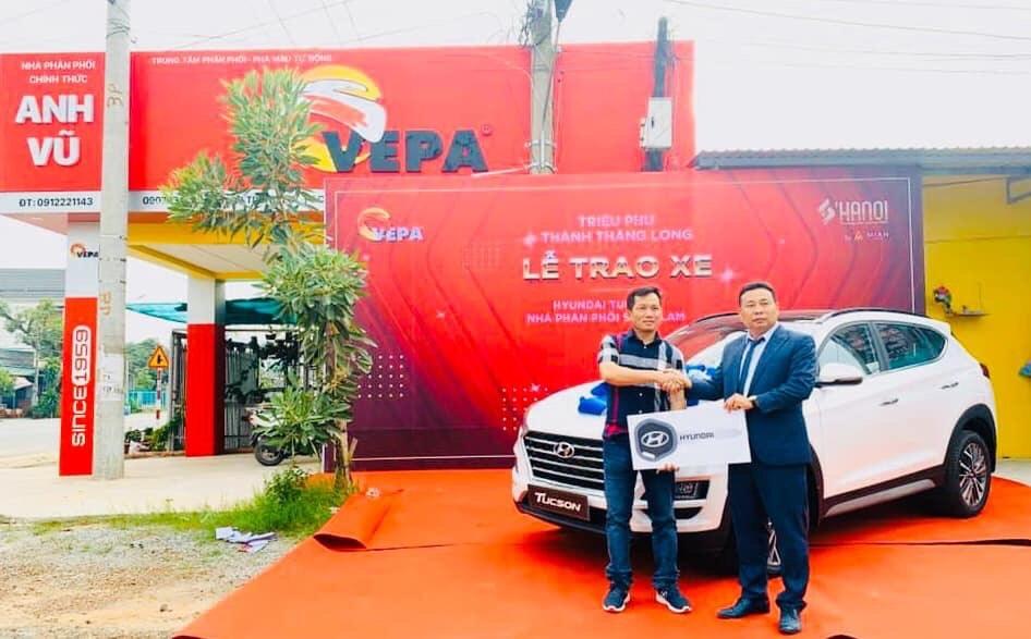 Lễ trao xe Hyundai  Tucson cho khách hàng tại Bình Phước