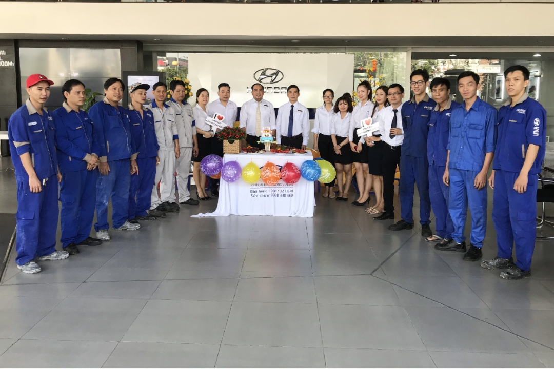 Hyundai Kinh Dương Vương mừng sinh nhật nhân viên tháng 01/2020