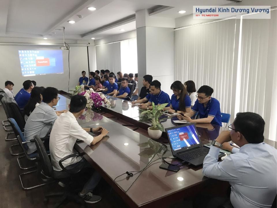 Hoạt động đào tạocủa Phòng Kinh Doanh tại Hyundai Kinh Dương Vương