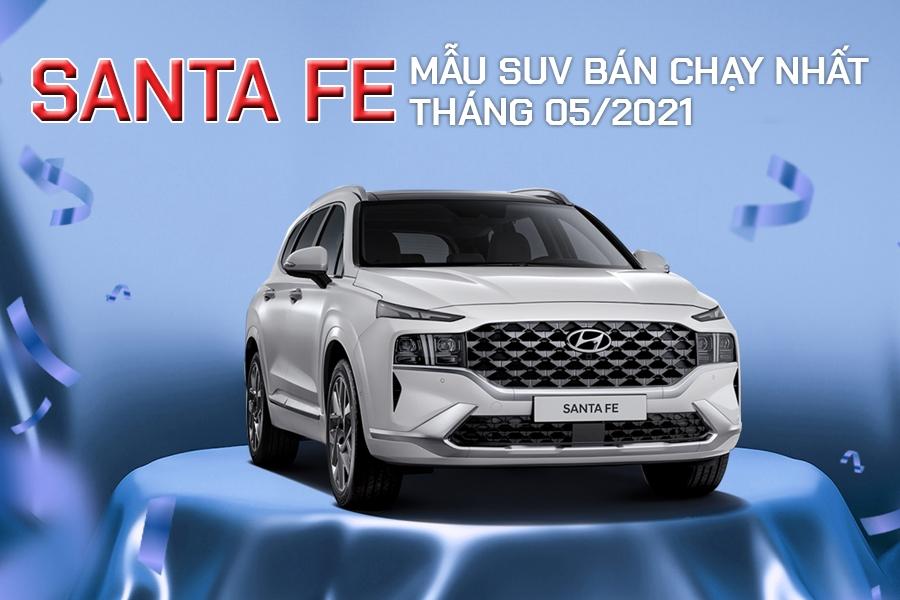 HYUNDAI SANTA FE DẪN ĐẦU PHÂN KHÚC SUV THÁNG 05/2021